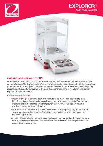 EXPLORER® Semi-Micro Balances