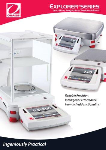 EXPLORER®SERIES Semi-Micro, Analytical and Precision Balances