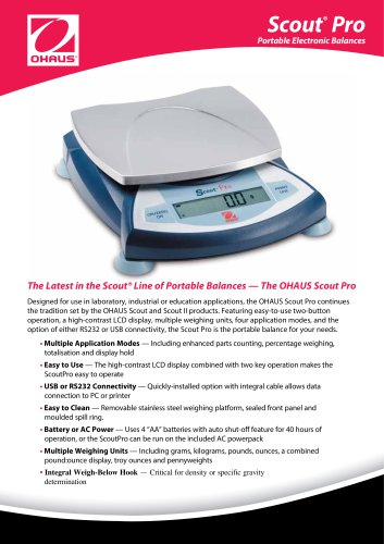 Scout® Pro Portable Electronic Balances