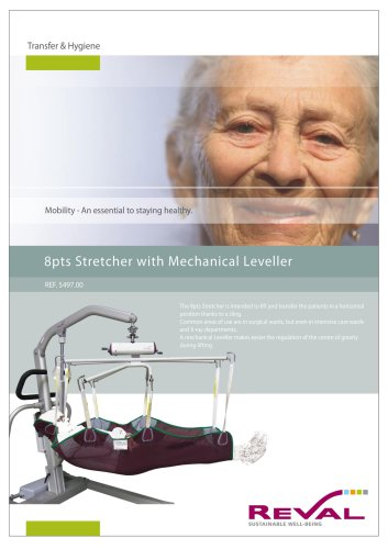 8 pts stretcher with mechanical leveller