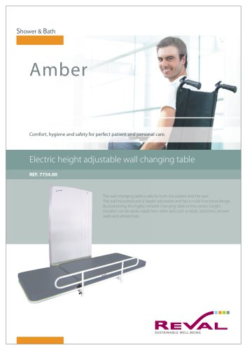 AMBRE - Electric height adjustable wall changing table