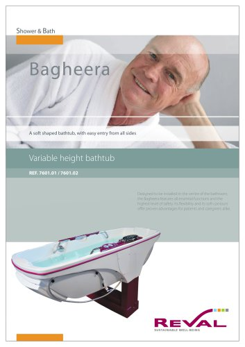 BAGHEERA - Variable height bathtub