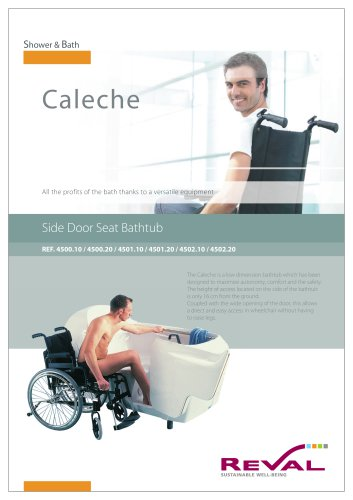 CALECHE - Side door seat bathtub