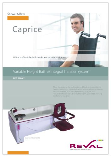 CAPRICE - Variable height bath and integral transfer system