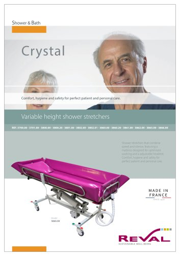 CRYSTAL - Variable height shower stretchers