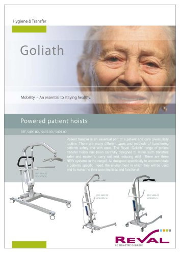 GOLIATH - Powered patient Hoists