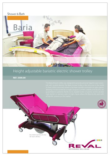 height-adjustable shower trolley BARIA