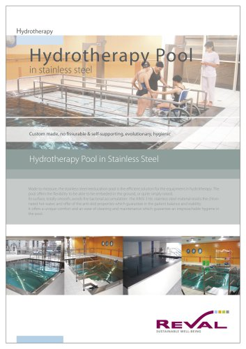 Hydrotherapy pool in Stainless Steel