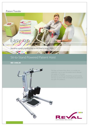 Sit-to-stand powered patient hoist