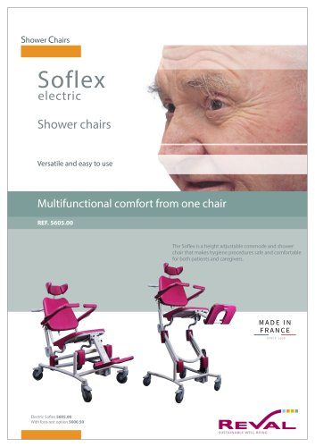 SOFLEX II - Electrical multifunctional comfort shower chair