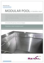 Stainless steel mudular pool