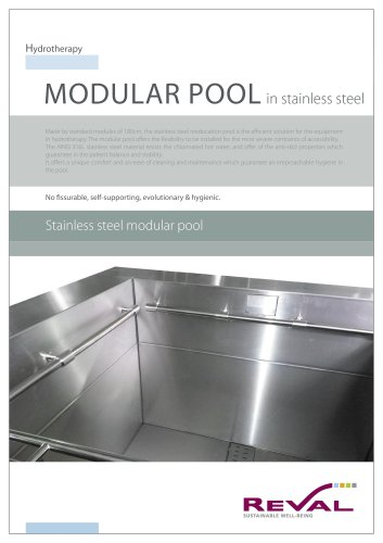 Stainless steel mudular pool