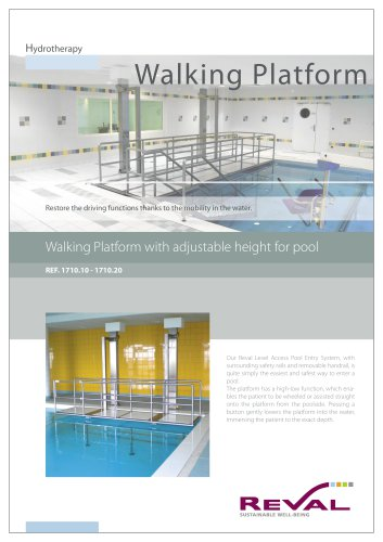 Walking platform - Walking platform with ajustable height for pool