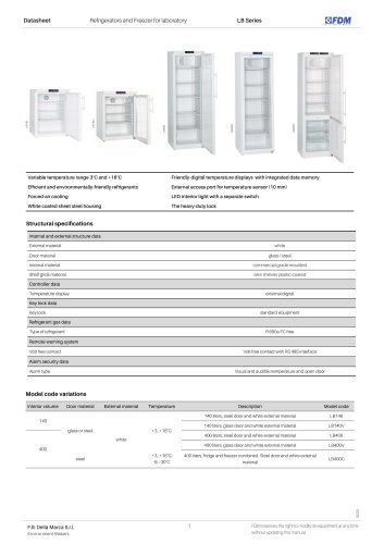 Laboratory refrigerators LB Series