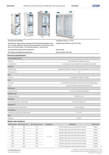 Pharma refrigerators FB Series