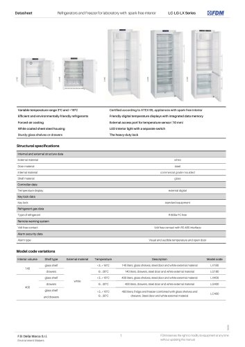Refrigerators and Freezer for laboratory with spark-free interior