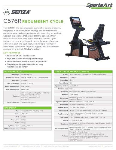 C576R RECUMBENT CYCLE