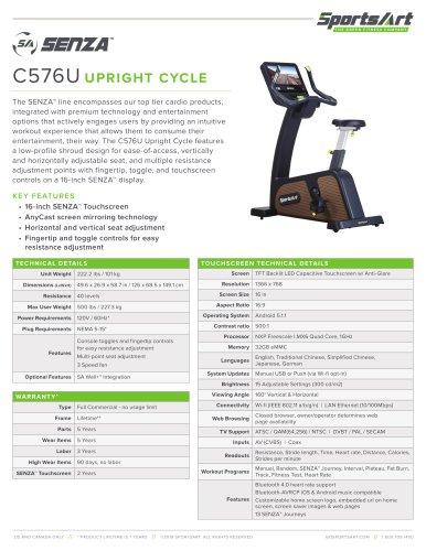 C576U UPRIGHT CYCLE