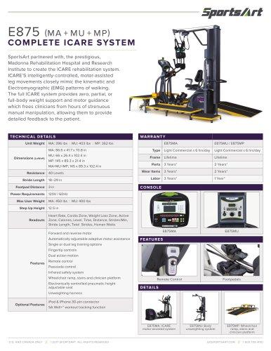 E875 (MA + MU + MP) COMPLETE ICARE SYSTEM