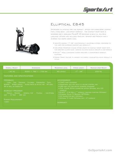 Elliptical E845