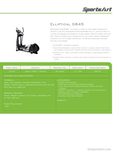 Elliptical G845