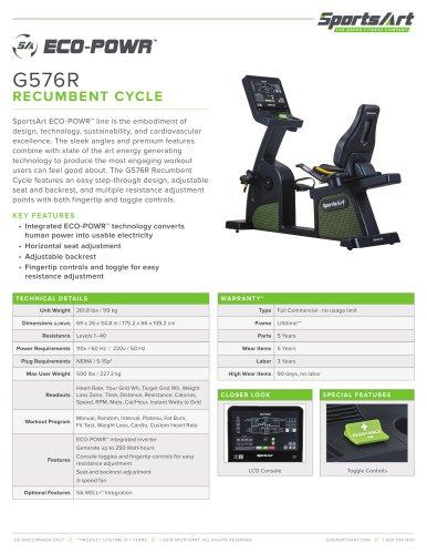 G576R RECUMBENT CYCLE