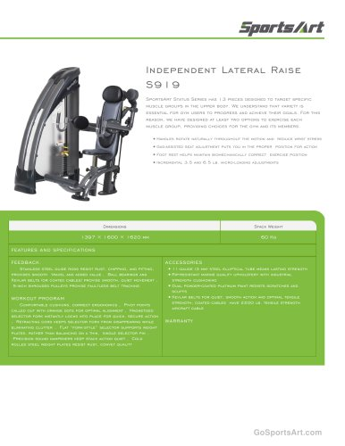 Independent Lateral Raise S919