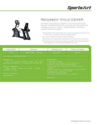 Recumbent Cycle C545R