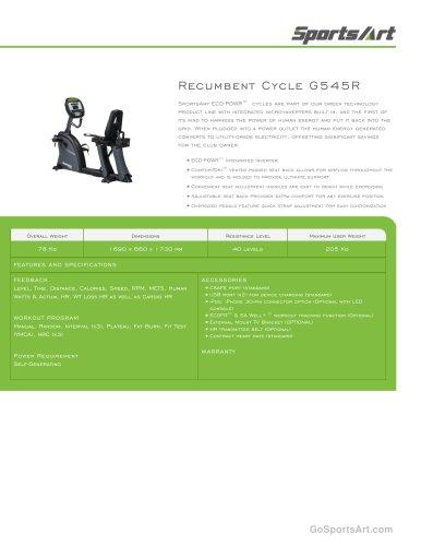 Recumbent Cycle G545R