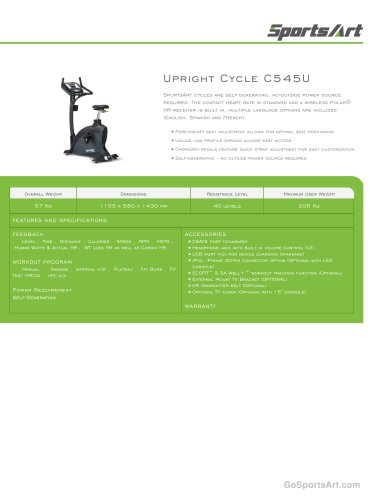 Upright Cycle C545U