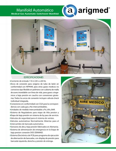 Medical Gas Automatic Switchover Manifold