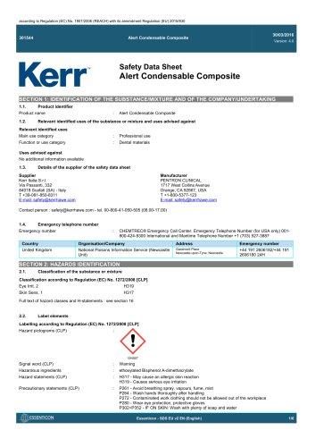 Alert Condensable Composite