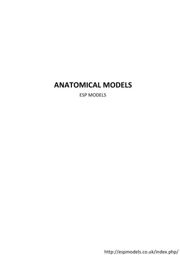 ANATOMICAL MODELS ESP MODELS  Brains and Heads