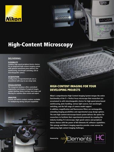 High Content Microscopy