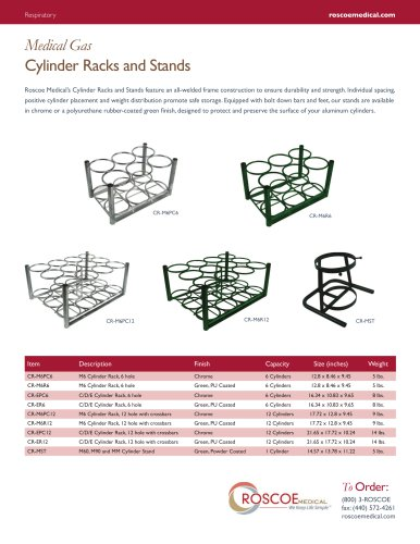 Cylinder Racks and Stands