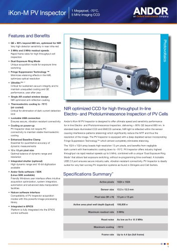 iKon-M CCD for Photovoltaics