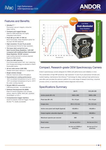 iVac Spectroscopy CCD for OEM