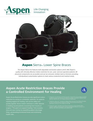 Aspen Sierra™ Lower Spine Braces