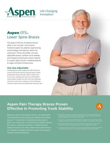 OTS™ Lower Spine Braces