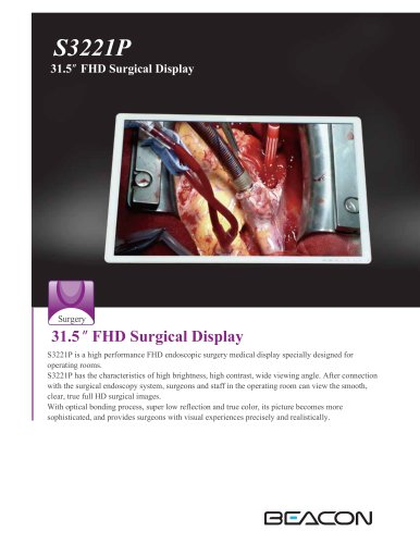 """31.5"""" FHD Surgical Display"""