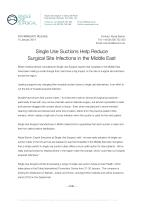 Single Use Suctions Help Reduce