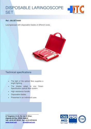 Disposable laryngoscope set