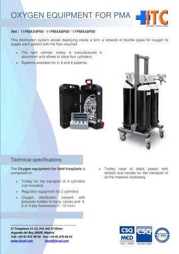 Oxygen equipment for field hospitals