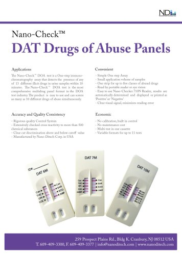 Nano-Check Drugs of Abuse Test