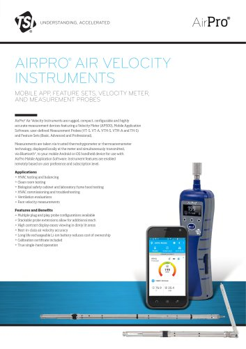 AIRPRO®  AIR VELOCITY INSTRUMENTS