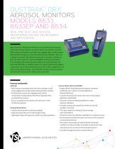DUSTTRAK™ DRX AEROSOL MONITORS MODELS 8533, 8533EP AND 8534