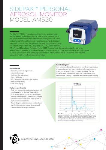 SIDEPAK™ PERSONAL AEROSOL MONITOR MODEL AM520