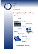 Histology Pathology Product Range