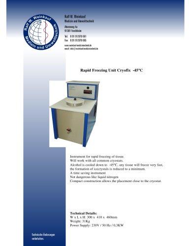 Rapid Freezing Unit Cryofix  -45 °  C