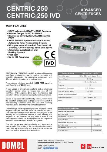 Centric 250, 250 IVD